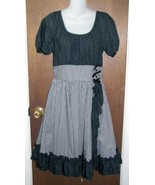Square Dancing Dress Black Eyelet and Gingham S... - $24.99
