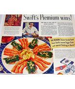 1940 Swifts Premium Bacon Life Magazine Ad Color - $5.00