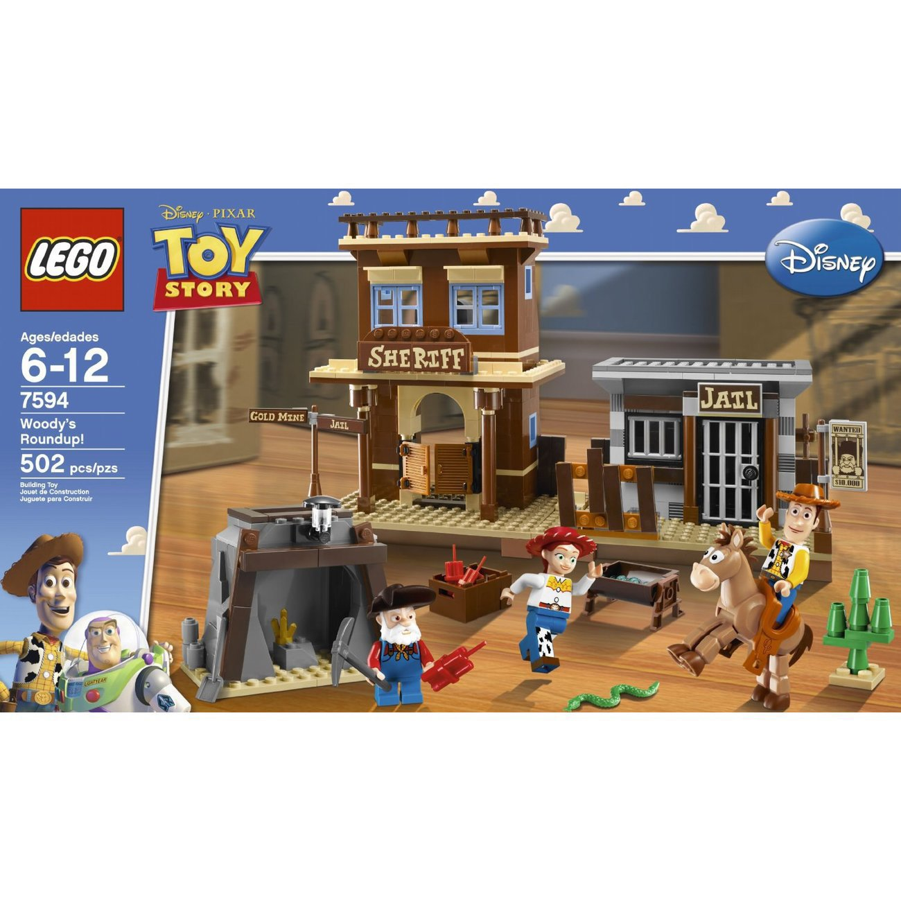 Lego Toy Story : Lego toy story woody s roundup  pieces
