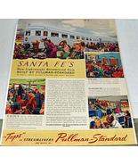 Life Magazine 1940 Santa Fe RR Ad Johnny Walker - $9.50