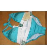 Trina Turk aqua blue bikini metal matching buck... - $95.00