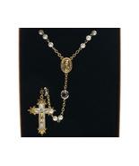 Channel Rosary Clear Swarovski Crystal Pearls N... - $59.99