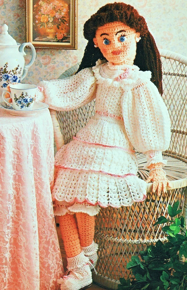 Annies Attic Victorian Doll Crochet Pattern Soft Sculpture - Dolls ...