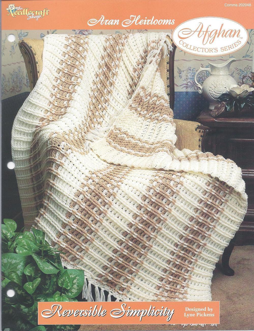 Reversible Simplicity~Aran Heirloom Afghan Crochet Pattern ...
