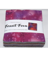 Fossil Fern Charm Pack Cotton Quilt Fabric Squa... - $24.99