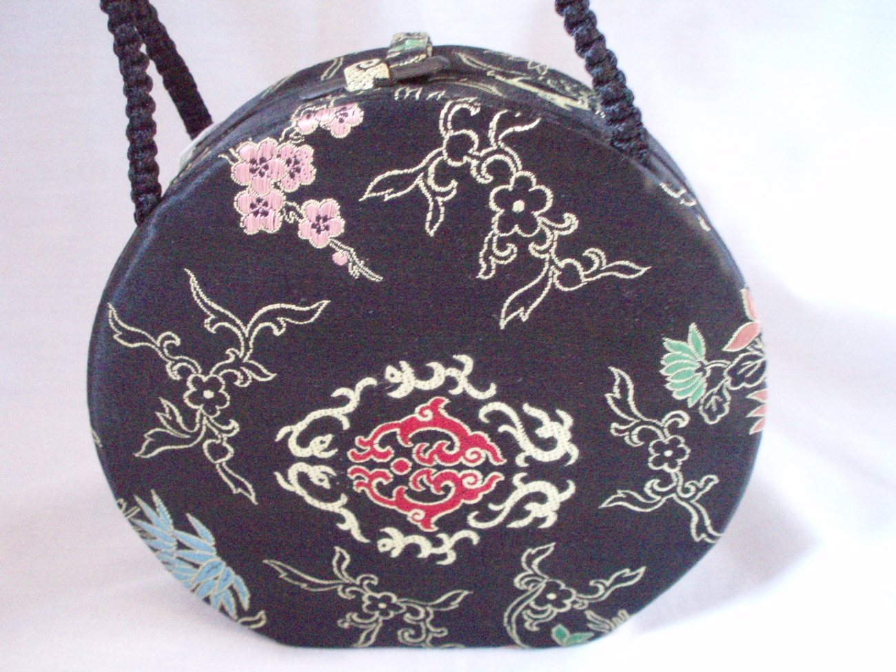 vintage Chinese evening purse handbag silk brocade