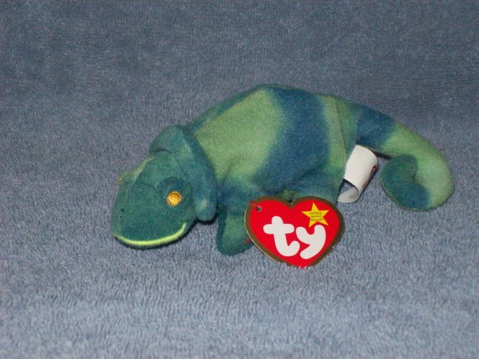#6 Iggy the Iguana-1999 TY Mcdonalds Teenie Beanie Baby