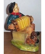Concertina Accordion Figurine Boy Plays The But... - $25.00