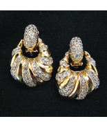 Donald Stannard Door Knocker Earrings Rhinestones - $64.95