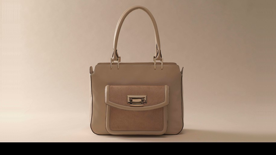 Tre vero cortina bone  sofft leather/hair calf satchel handbag R $349 HTF