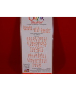 Sizzix Sizzlits Doodle with Dazzle  alphabet u/... - $29.99