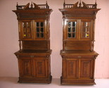 Buy Buffets & Sideboards - Pair Antique Renaissance Style Buffet Servers 1900's #B1243
