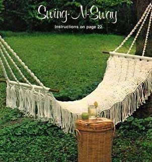 how to make a round macrame swing