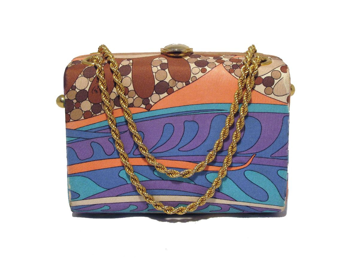 Vintage Pucci Psychedelic Color Scope Handbag c.1960s
