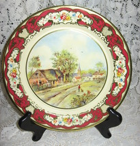 Daher Decorated Metal Picture Plate-Village-Eng... - $10.00