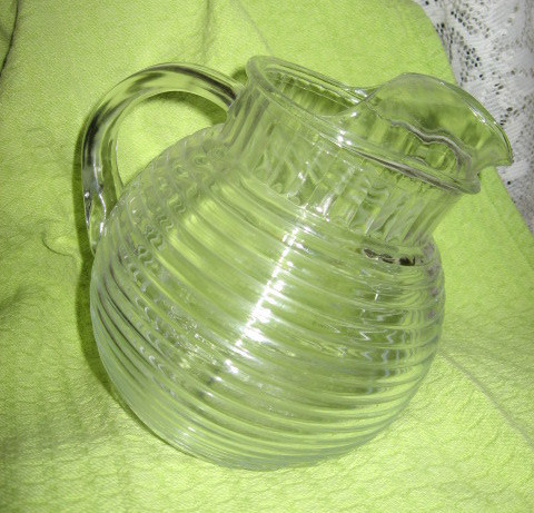 Depression Glass- Manhatten - Clear Pitcher