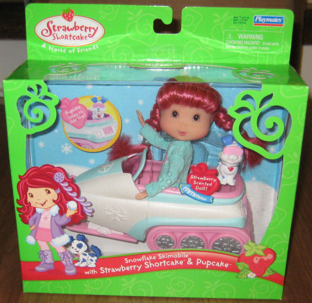 Strawberry Shortcake SNOWFLAKE SKIMOBILE MIB