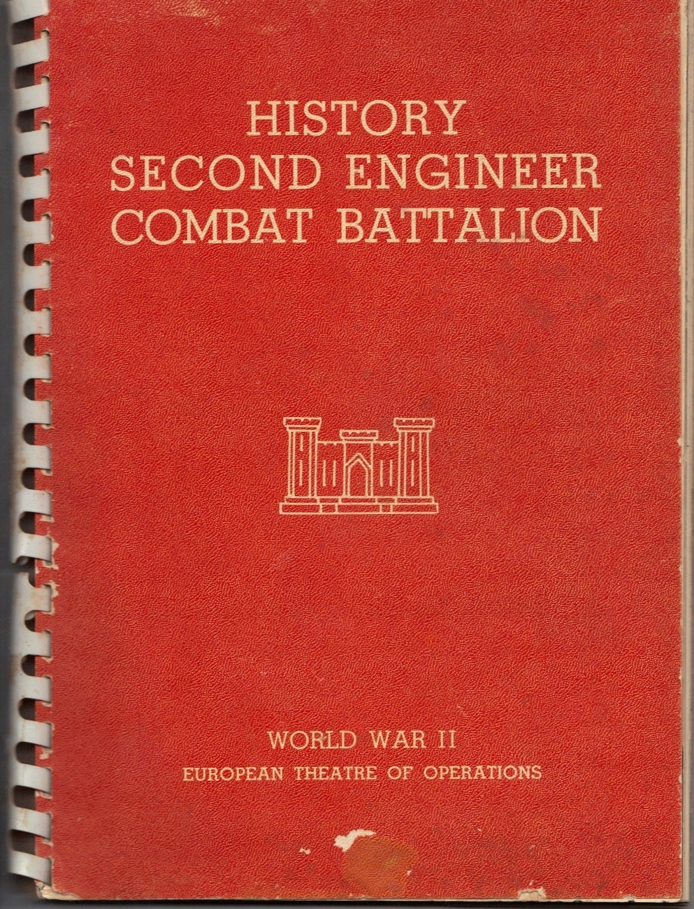 Vintage Rare Historical Military Booklet. WW II Hist. 2nd Engineer Combat Battal