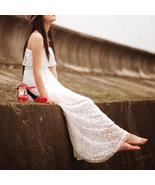 Romantic Goddess. Bohemian Full Lace White Maxi... - $78.00