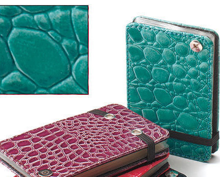 Snakeskin Credit Card Wallets Turquoise