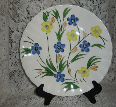 Blue Ridge Chickory Dinner Plate-Tennessee-1930-1950's