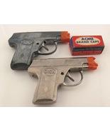 Two 1940's Dick Cap Guns & Acme Brand Cap Box - $20.00