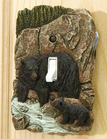 Image 0 of Rustic Switch Cover  Bear