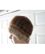 Vintage med brown mink women hat XS 21