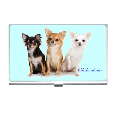 Chihuahua Dog Dogs Puppy Puppies Business Card Holder