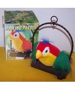 Vintage Tattle Talk Talking Parrot Moves & Repe... - $25.00