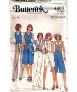 1970's CULOTTES, PANTS & VEST  Pattern 4803-b S... - $10.99