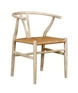 LIMED OAK WISHBONE CHAIR, Natural Rope Seat, WE... - $479.00