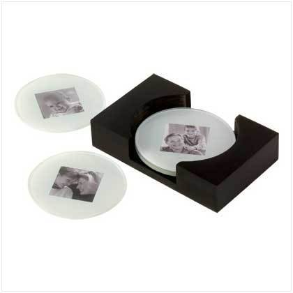 Sara D Ward Collection Drink Coffee Table Photo Glass Coaster Set Of 4