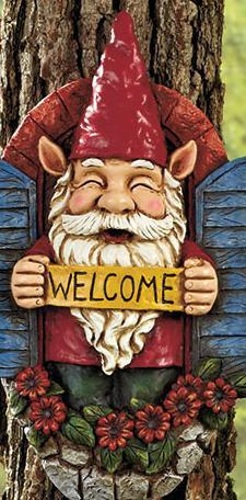 Image 2 of Gnome Tree Decor Welcome