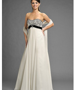 Ivory/Black informal wedding gown Romantic Brid... - $150.00
