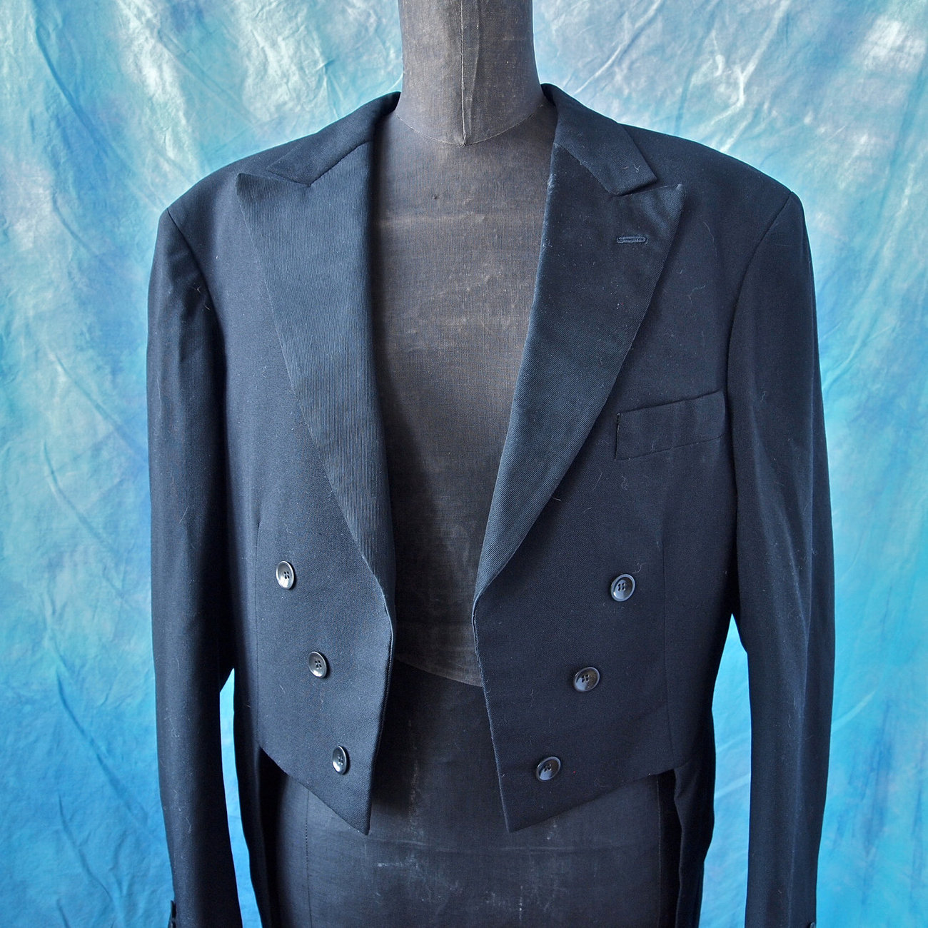 Gerhard Skusa Amazing 30's Black Tails Wedding Tuxedo Jacket Vienna, Art Deco