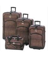 Fashionable Leopard Print Unisex Luggage Ensemble - $129.90