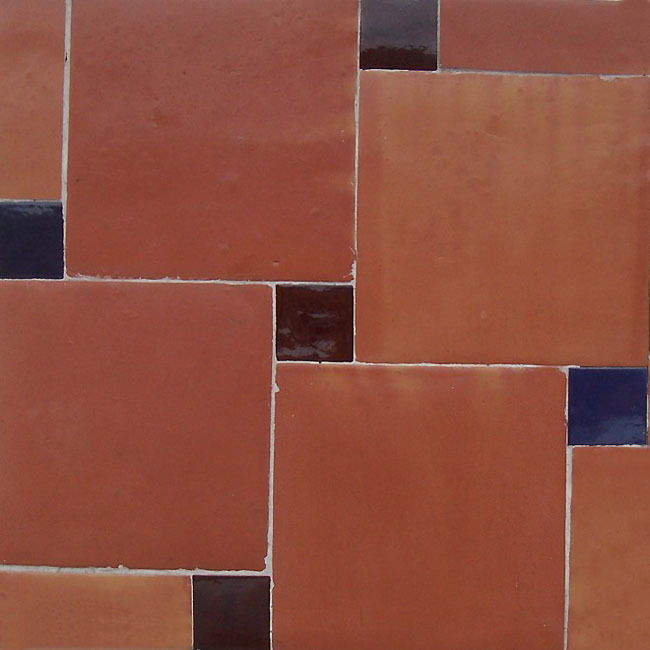 Saltillo clay floor tile