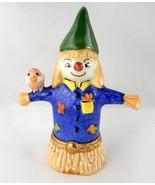 Limoges Box  - Halloween Scarecrow & Bird - Eld... - $89.00