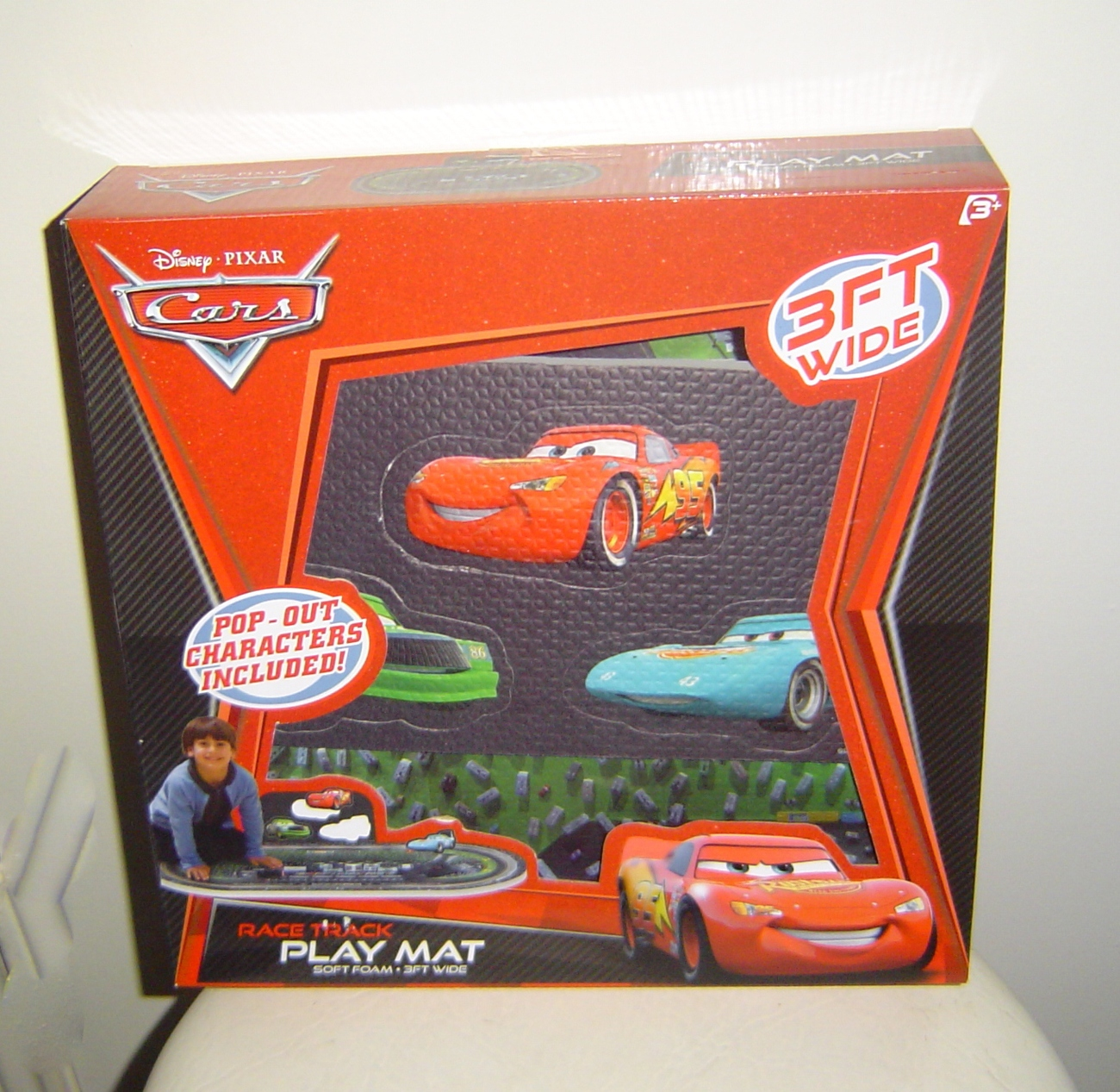 Disney Pixar Cars Race Track Play Floor Mat With Pop Out