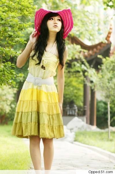 Ckl002_dress_yellow