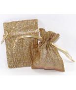 12 Jewlery Pouches Gift Bag Metallic Sparkle Go... - $12.99