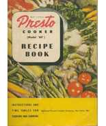 Presto Cooker Model 60 Recipe Book 1946 Cookbook - $6.80