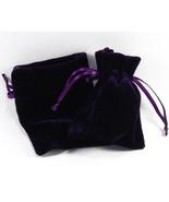 10 Jewlery Pouches Gift Bags Velvet Purple 3 X ... - $14.99
