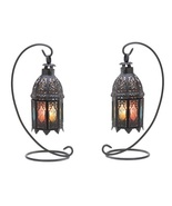 2 Moroccan Candle Lanterns with Stands - $29.00