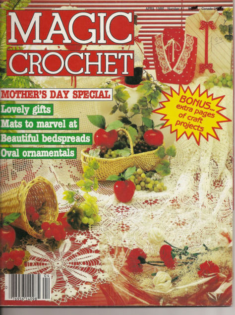 Magic Crochet Magazine No 41 April 1986 Home Decor Crochet Patterns ...