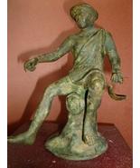 Italian Grand Tour Bronze Fisherman circa 1880-... - $455.00