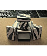 Jewelry Gift Boxes Zebra Print Cotton Filled 10... - $5.50
