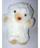 VTG Beckey Bear Plush Teddy Stuffed Animal Toy White Pink Bow BOA  - $39.98