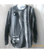 Moffi gray medium long-sleeved sweater  - $10.00